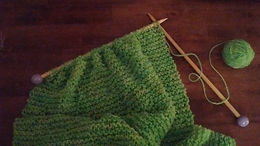 Misty's Country Apple Green Wrap on Handmade Needles by Wheely Wooly Farm
