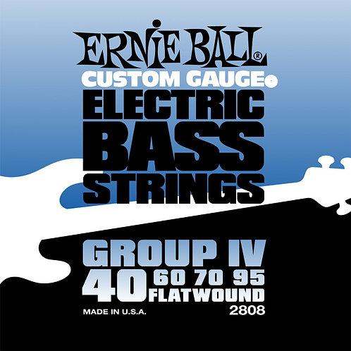 Струны Ernie Ball 2808 Flat для бас гитары (40-60-70-95)
