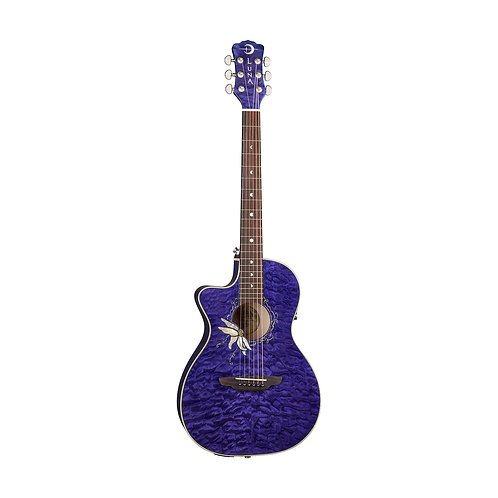 Электроакустическая гитара LUNA FLO PF QM LEFTY PASSIONFLOWERS