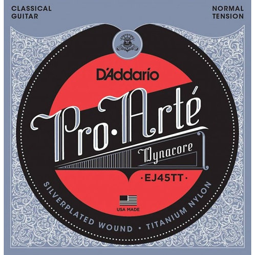 Струны D'Addario EJ45 TT для классической гитары (Normal Tension)