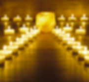 garden of meditation with many candle li