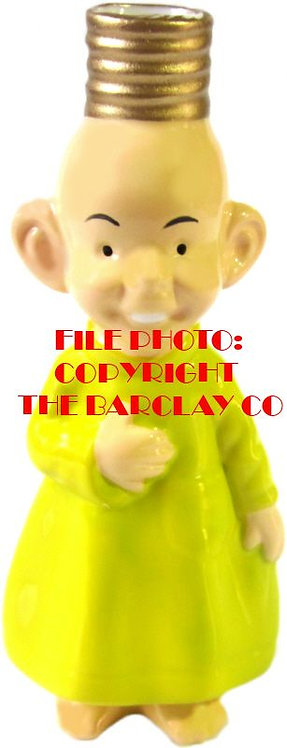 "#BC-028 - Old Time Comic Character ""Milk Glass"" Bulb Cover - The Yellow Kid"