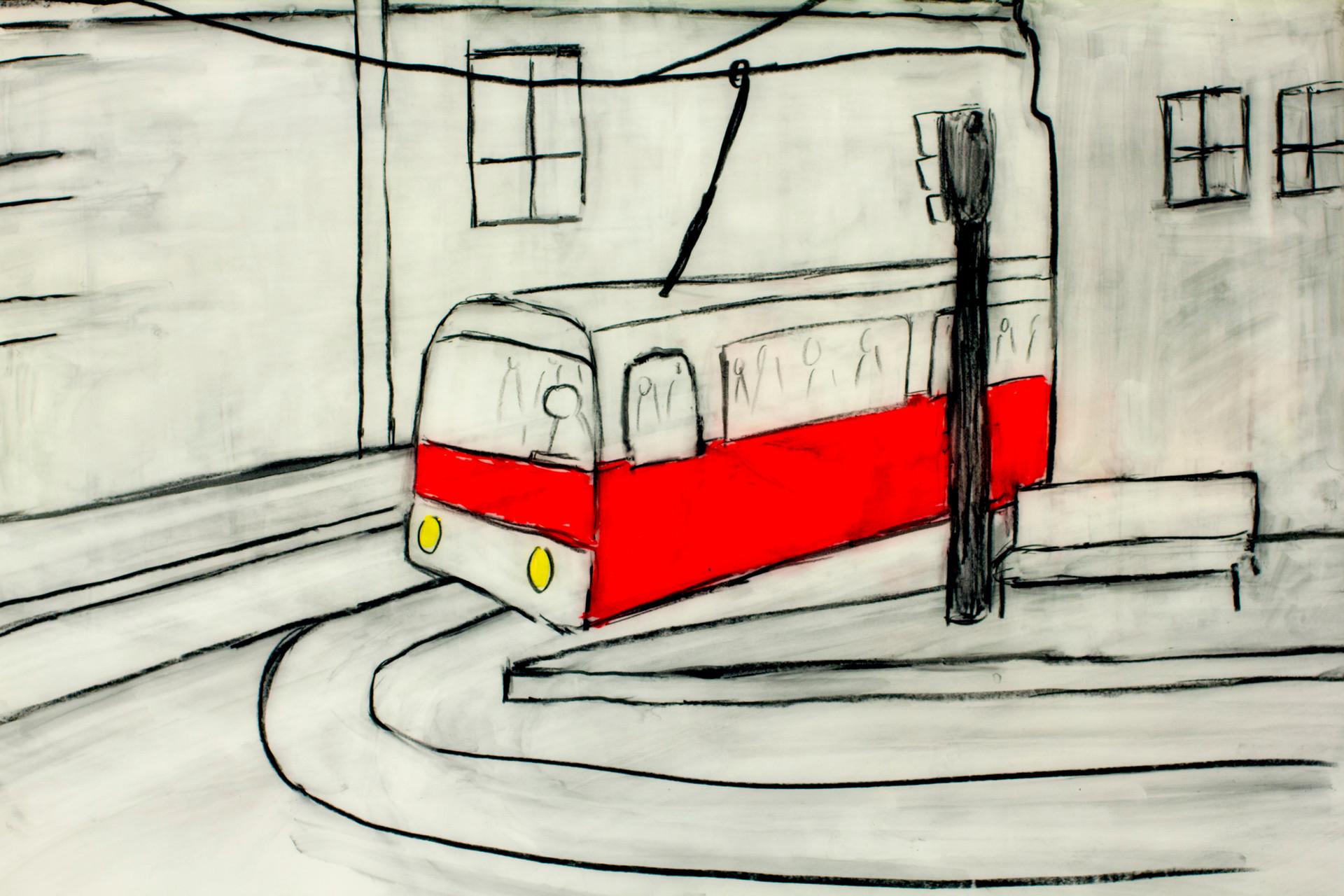 Streetcar_watercolour_crayon