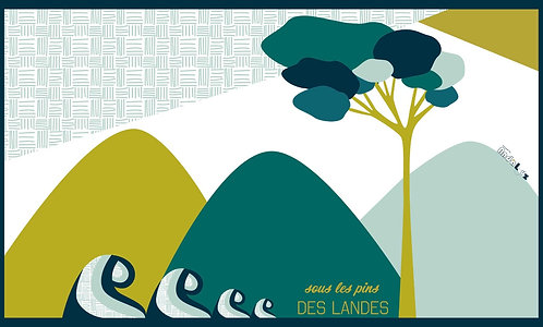 Tapis vinyle Sous les Pins Original