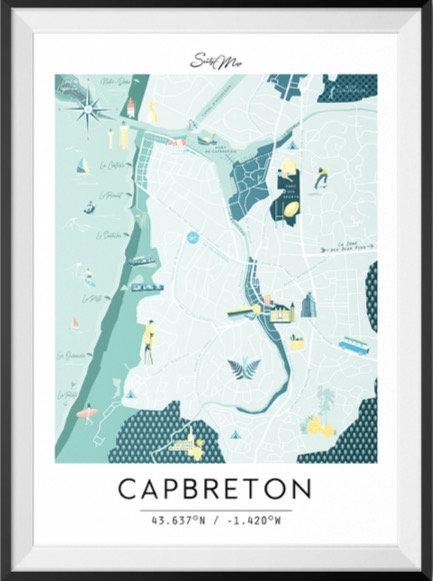 Carte Capbreton Seaty Map