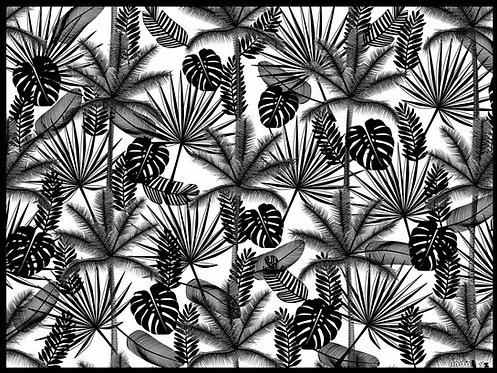 Set de table Jungle Noir