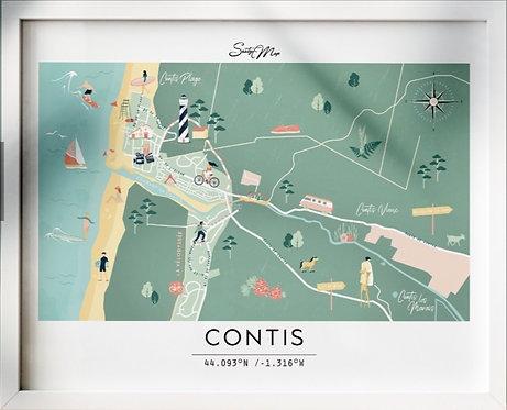 Carte Contis Seaty Map