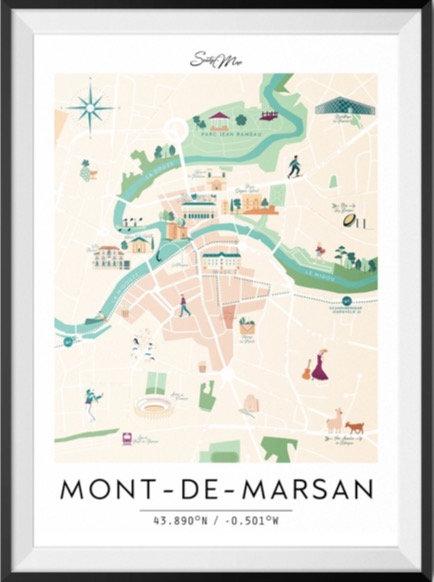 Carte Mont-De-Marsan Seaty Map