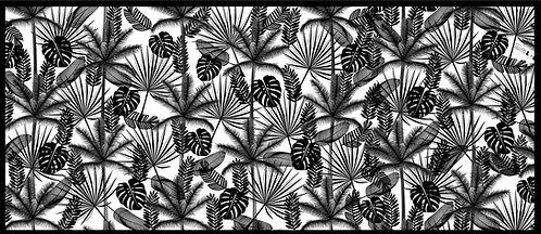 Tapis vinyle Jungle Noir