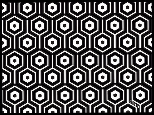 Set de table rectangle Hexa B&W