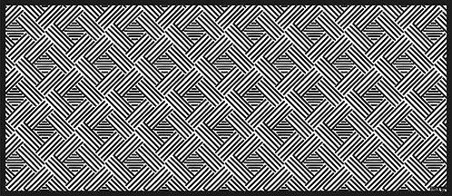 Tapis Vinyle Osier Noir