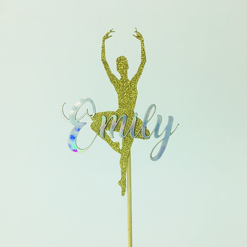 Ballerina Topper with or without Name