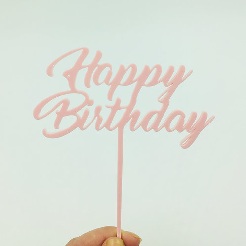 Acrylic Topper Happy Birthday in two sizes