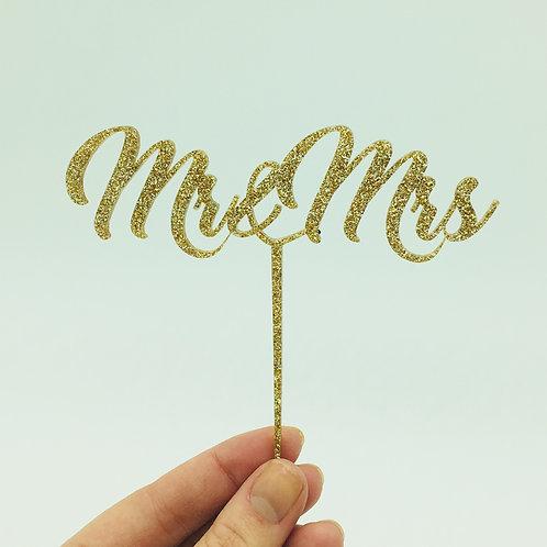 Acrylic Cake Topper   Mr & Mrs / Mrs & Mrs / Mr & Mr