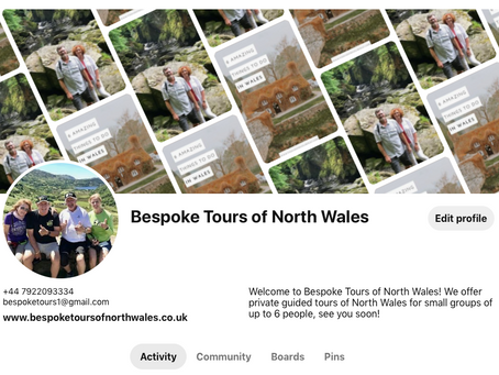 Bespoke Tours of North Wales is now on Pinterest!!