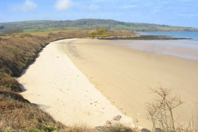 A beautiful and deserted Welsh beach.