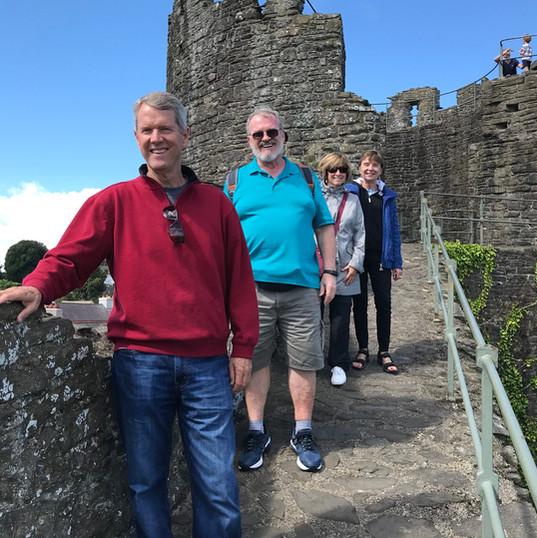 Enjoying a walk along the walls of Conwy!