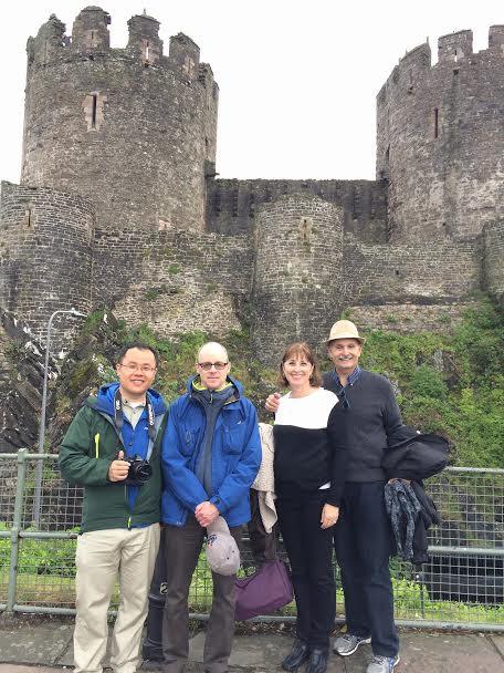 Jeff, Karen, Sam and Jonathan enjoying Conwy Castle