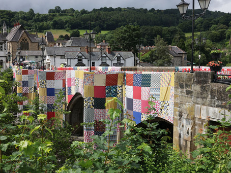 Giant patchwork bridge to launch Llangollen Eisteddfod in Wales!!