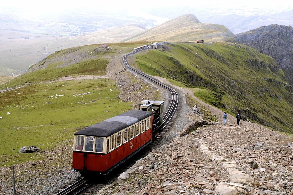 The famous Snowdon Mountain Railway