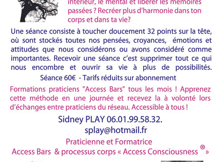 Access Bars®, Isère,Saint Geoirs 38590, Sidney PLAY