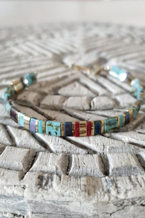 Bracelet Perles de Verre Japonaises - N12
