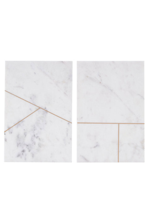 Planche Rectangle Blanc Géometrique