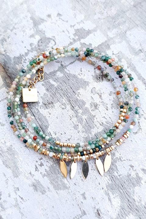 Bracelet Multi Tour - Agate Indienne - N.5