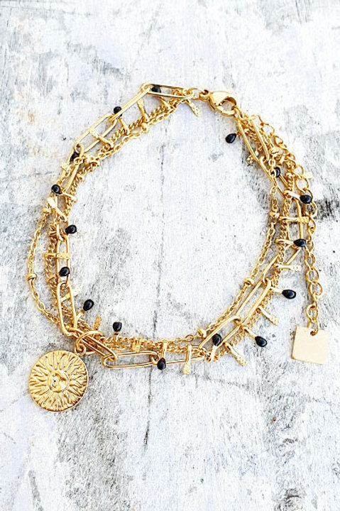 Bracelet Multi - Sun - Black