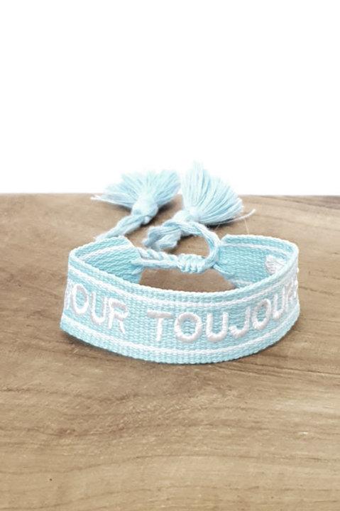 Bracelet Coton - Amour Toujours - Turquoise