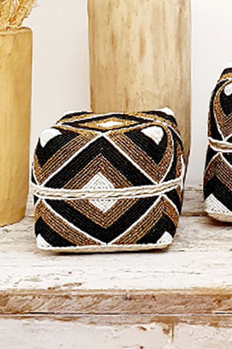 Boite Perles - Noir Gold - L
