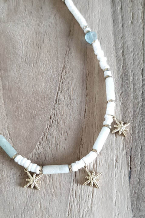 Collier Perles Summer - Turquoise