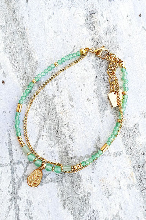 Bracelet Duo - Gold Aventurine - N.1