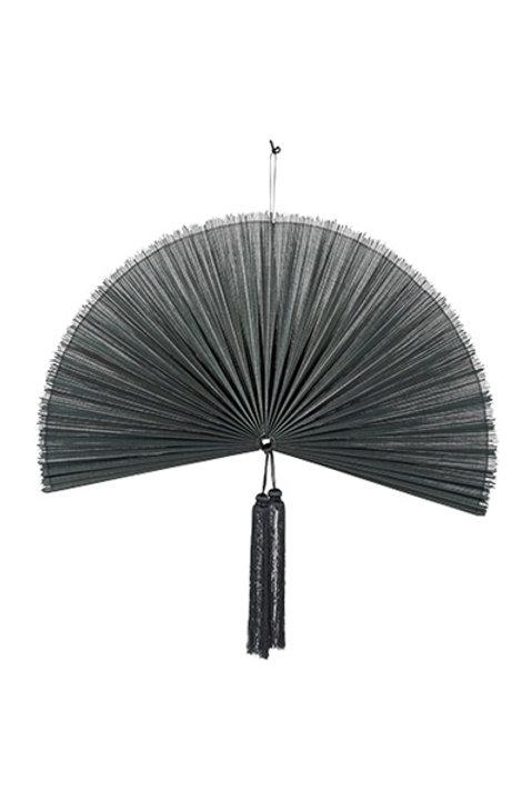 Eventail Bambou Tissé - PM - Noir