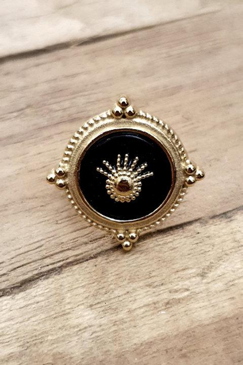 Bague Crown - Black