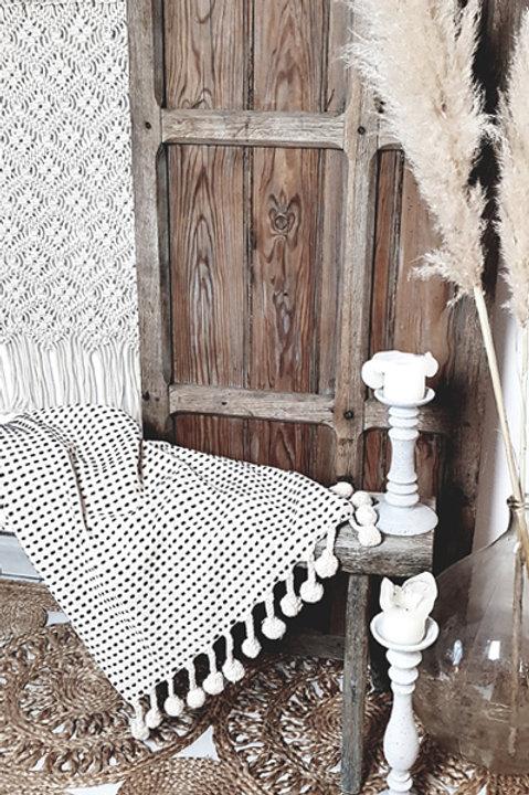 Plaid Pompons en Coton