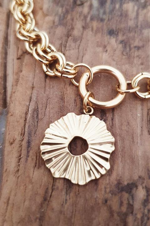 Bracelet Chainette Sun Plissé Gold