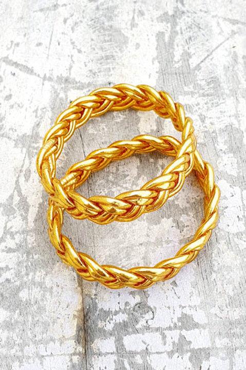 Jonc Bouddhiste - Tressé - Classic Gold