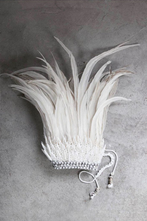Couronne Plume White - Black White