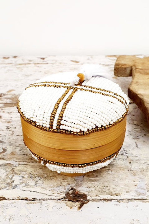 Boite Perles Ronde - White Gold