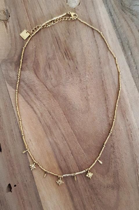 Collier Ras de Cou Summer N.3 - Perles Gold
