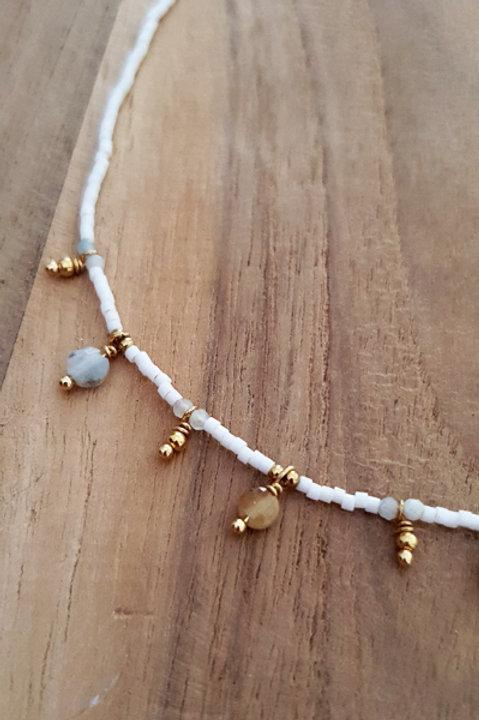 Collier Ras de Cou Summer N.1 - Perles White Gold