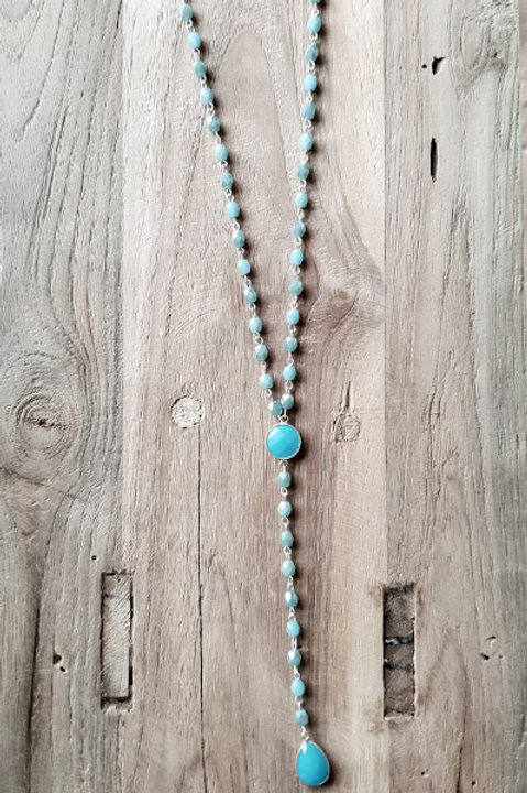 Sautoir Chapelet - Turquoise