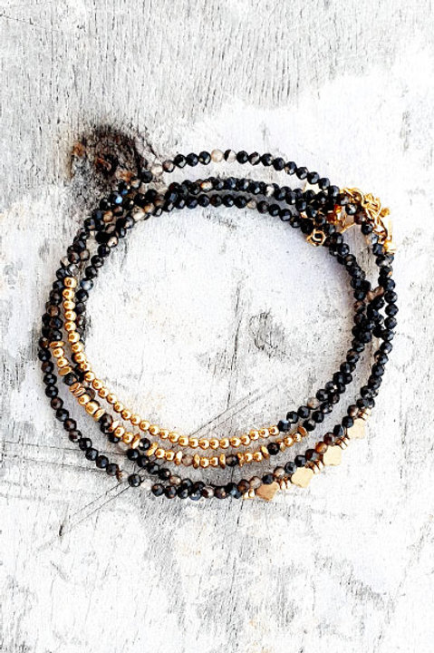 Bracelet Multi Tour - Onyx - N.2