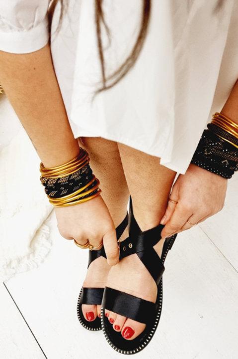 Sandale Cuir Panormos Black
