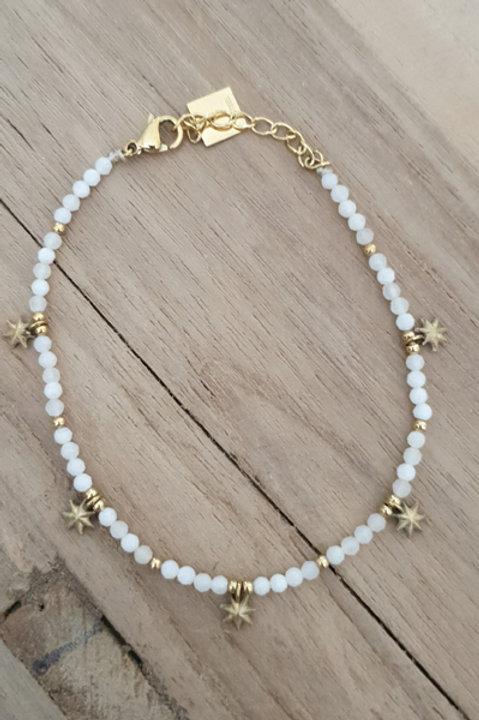 Bracelet Perles de Pierre - Agathe Blanche N5