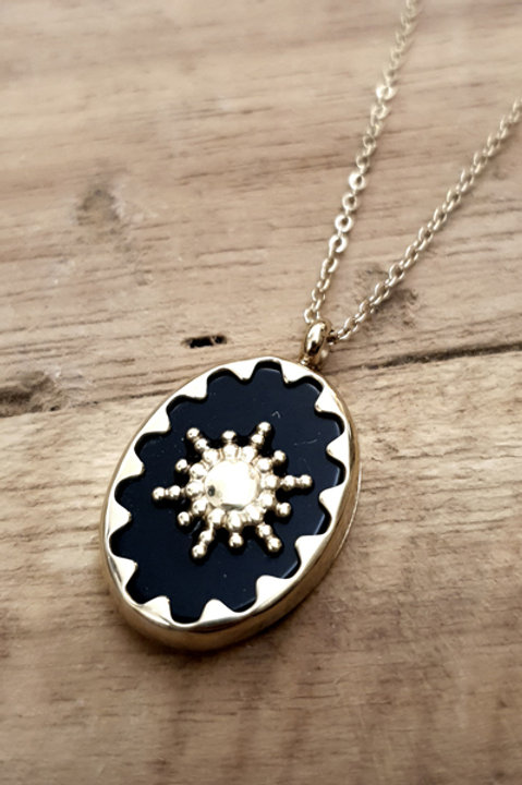 Collier Elisabeth Gold - Black