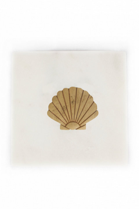 Carreau Marbre Coquillage Gold