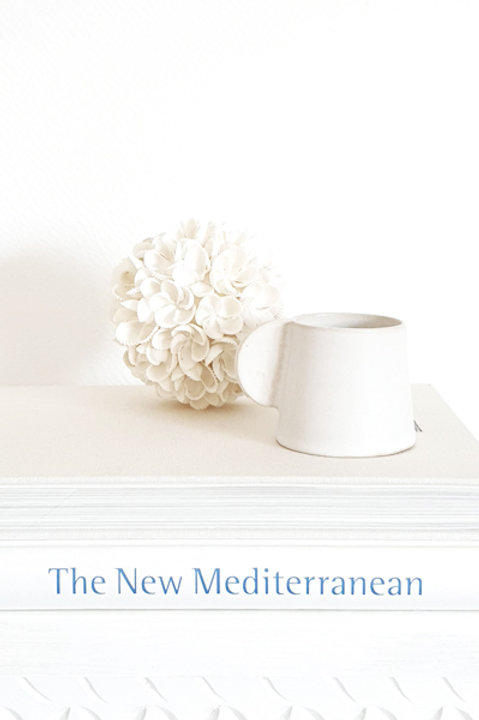 Mug Céramique Bord Brut - Blanc