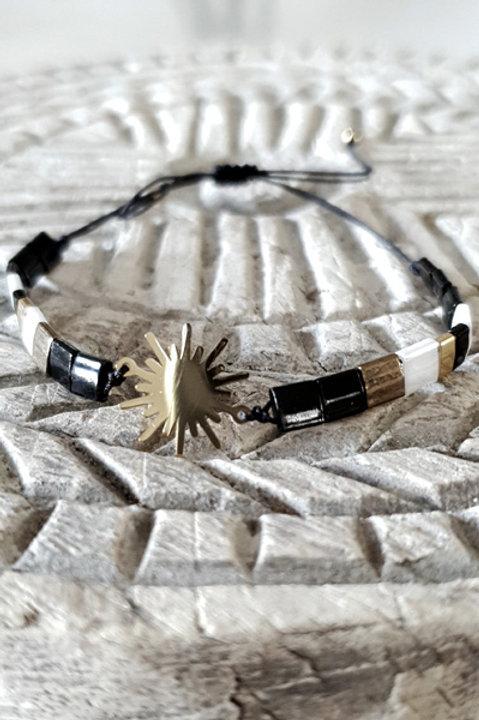 Bracelet Perles de Verre Japonaises - Black